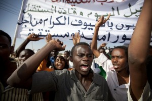 Deadly Protests outside West Darfur University. Source: UN photo / Albert