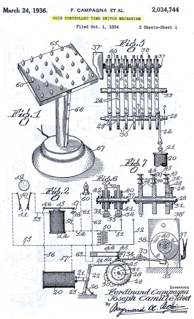 Patent illustration, electric votive