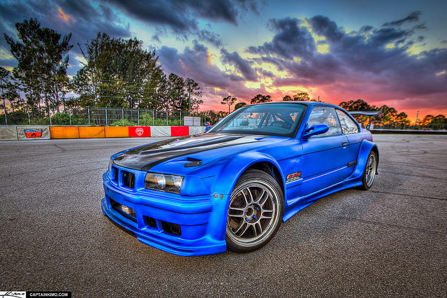 Ter-Tech's BMW 3 Series Drift Car at PBIR During Sunset | via flickr user Kim Seng
