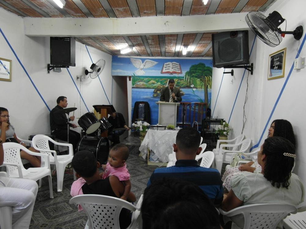 Religious service at a local pentecostal church, Rio de Janeiro